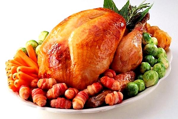 Receta de Pollo al horno navideño