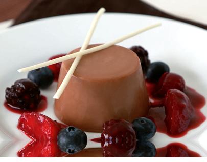 Receta de Panacota de Chocolate