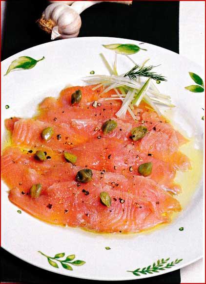 Receta de Carpaccio de salmon