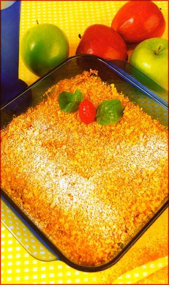 Receta de Crocante de manzana