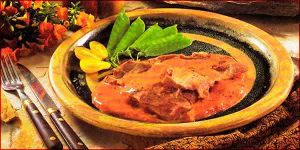 Receta de Ternera en salsa rosada