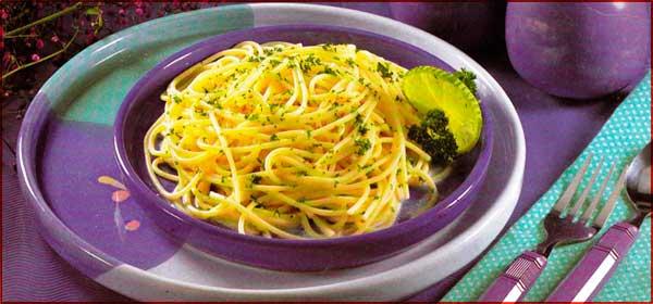 Receta de Spaghetti al limon