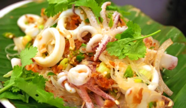 Receta de ensalada de calamares