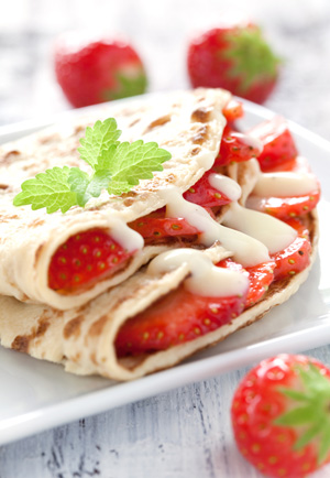 Receta de Crepes Suchard