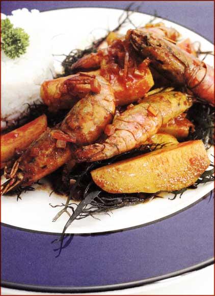 Receta de Ajiaco de Camarones con Yuyos