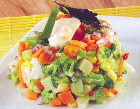 Ensalada caliente de verduras