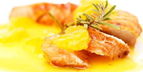 Muslos de pollo a la mandarina
