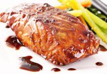 Receta salmón marinado en soja y miel
