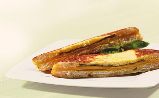 Receta de Pan con queso frito